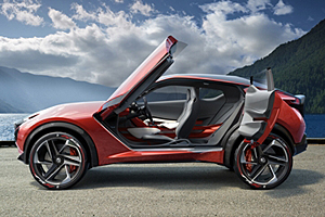 Nissan Gripz Konzept - mit geöffneten Türen
