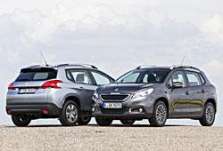 Peugeot 2008 Front- und Heckansicht