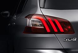 Peugeot 308 - Rücklichtgestaltung