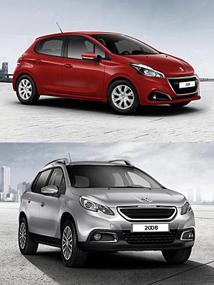 Peugeot Urban Move: 208 und 2008 (unten)