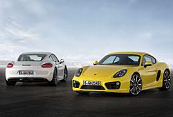 Porsche Cayman Heck- und Frontansicht