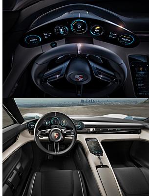 Porsche Mission E Innenraum
