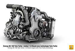 Renault - 1,6-Liter-Turbodiesel mit Twin Turbo Technologie