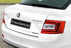 Skoda Octavia Limousine - Heckansicht mit Greenline-Schriftzug