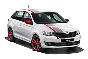 Skoda Rapid Spaceback Cool Edition Red & Grey