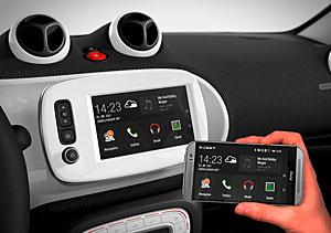 Smart - Smartphone-Inhalt lässt sich ins Fahrzeug spiegeln