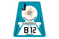 Österreich-Vignette 2012 ist petrolfarben