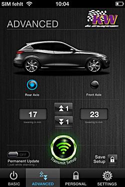 KW Automotive - Tieferlegungs-App