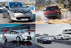 Renault Zoe, Jeep Cherokee, Lexus IS 300 h, Maserati Ghibli