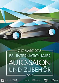 Genfer Autosalon - Plakat 2013