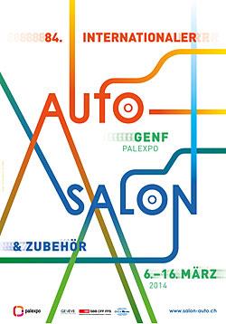 Genfer Autosalon - Plakat 2014