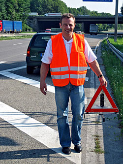 In Deutschland gilt die Warnwestenpflicht