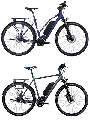 Subaru E1: E-Bike für Damen (oben) und Herren
