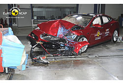 Tesla S im Crashtest