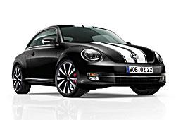 VW Beetle mit Zwei-Streifen-Dekor