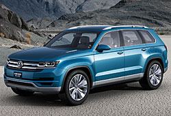 VW Cross Blue Seitenansicht
