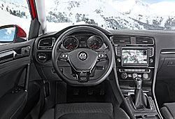 VW Golf 4Motion Fahrerplatz
