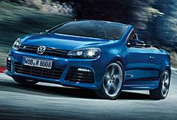 VW Golf R Cabriolet seitliche Frontansicht