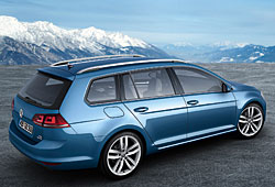 VW Golf Variant - seitliche Heckansicht