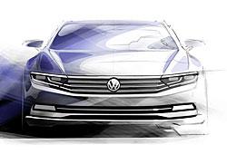 VW Passat - Frontansicht - Zeichnung