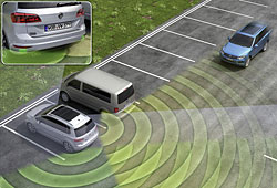 VW Blind Spot Detection mit Ausparkassistent