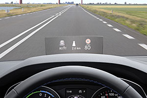Head-up-Display im VW Passat