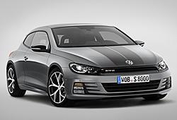 VW Scirocco GTS mit Dekorstreifen - Frontansicht