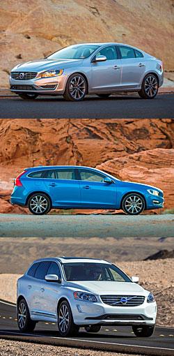 Volvo S60, V60 und XC 60 (v. o. n. u.)