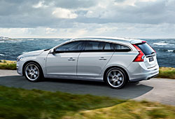 Volvo V60 in der Seitenansicht