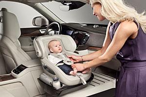 Volvo Kindersitzkonzept im XC90 Excellence