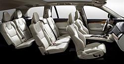 Volvo XC90 - Sitzanordnung