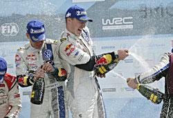 WRC 2013 Griechenland - Latvala/Anttila auf dem Podium