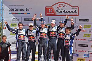 WRC 2015 - Rallye Portugal: Reines VW-Podium